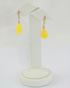 Captivating Yodirovannoye Earrings With Natural Baltic Amber In Silver 925°