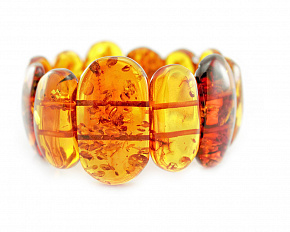 Original Bracelet From A Variety Of Natural Baltic Amber Of Cognac Color