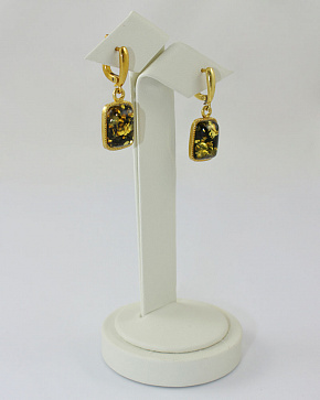 Spectacular Earrings With Natural Baltic Amber