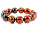 Bracelets made of amber in the shape of a ball