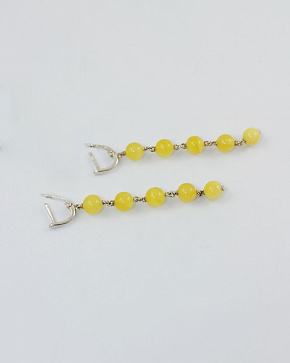 Luxurious Silver 925° Insert Earrings From Natural Baltic Amber