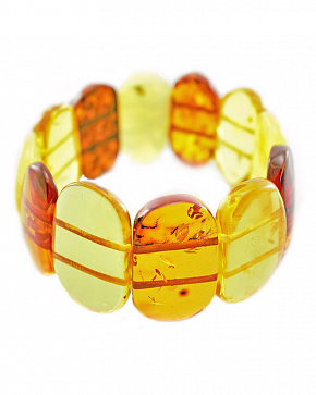 Multicolored Bracelet From Natural Baltic Amber