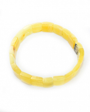 Elegant Bracelet Made Of Natural Baltic Amber Honey Matte Color