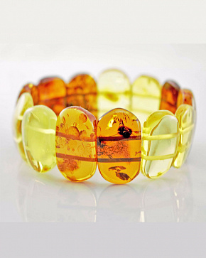 The Bracelet Is Of Flat Natural Baltic Amber Ovals Motley