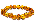 Bracelets made of amber, various shapes
