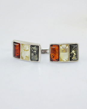 Bright Silver 925° Insert Earrings From Natural Baltic Amber
