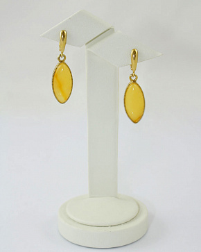 Honey Earrings From Natural Baltic Amber
