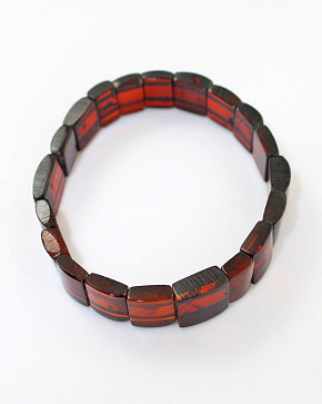 Intricate Bracelet Of Cognac Natural Baltic Amber