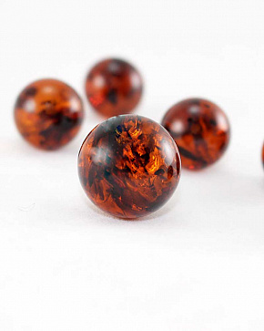 Cognac-cherry Amber Balls From 20 Mm Up To 25 Mm Top Grade