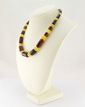 Wonderful Colorful Beads Genuine Baltic Amber Cognac Honey Color