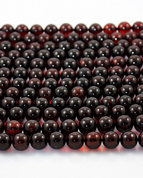 Amber Moulded Balls Of 10 Mm To 15 Mm Cherry Color
