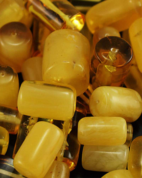 Cylinder Frosted Amber Diameter Slice From 4 Mm To 6 Mm