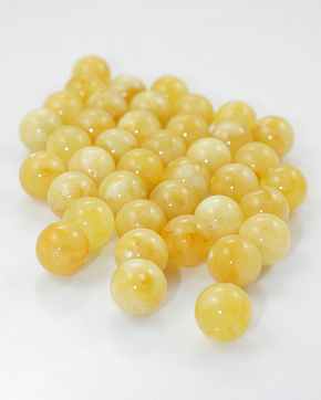 Amber Moulded Balls Of 15 Mm To 20 Mm Infinity-honey Color